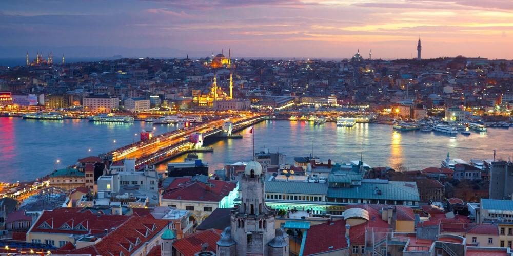Istanbul Night Panorama View (web)